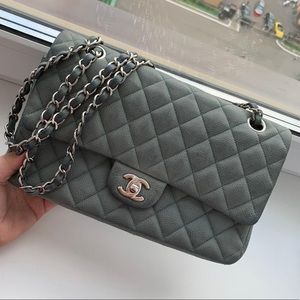 Chanel Medium Double Flap Nubuck Classic Bag